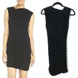 Rebecca Minkoff Irwin Dress Black Ruched Sheath XS